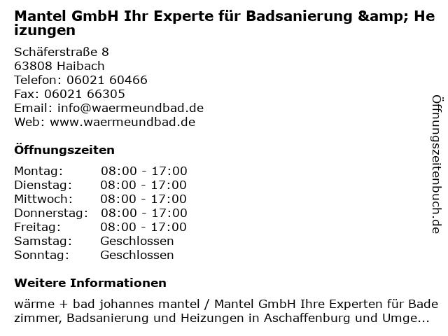 Mantel gmbh stockstadt