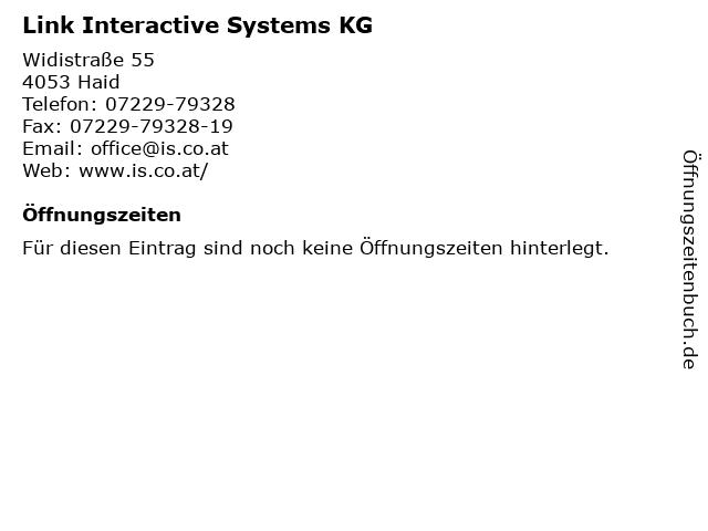 Link Interactive Systems KG in Haid: Adresse und Öffnungszeiten