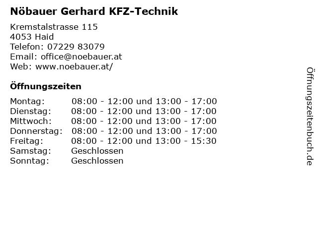 Nöbauer Gerhard KFZ-Technik in Haid: Adresse und Öffnungszeiten