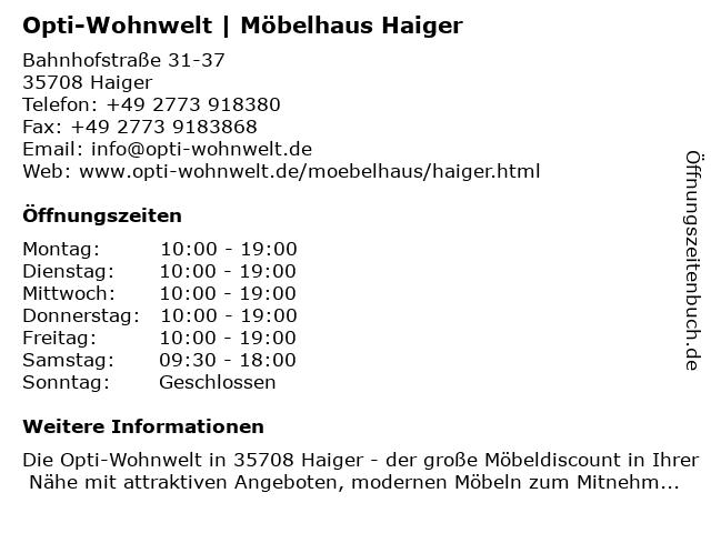 ROLLER GmbH & Co. KG in Haiger: Adresse und Öffnungszeiten