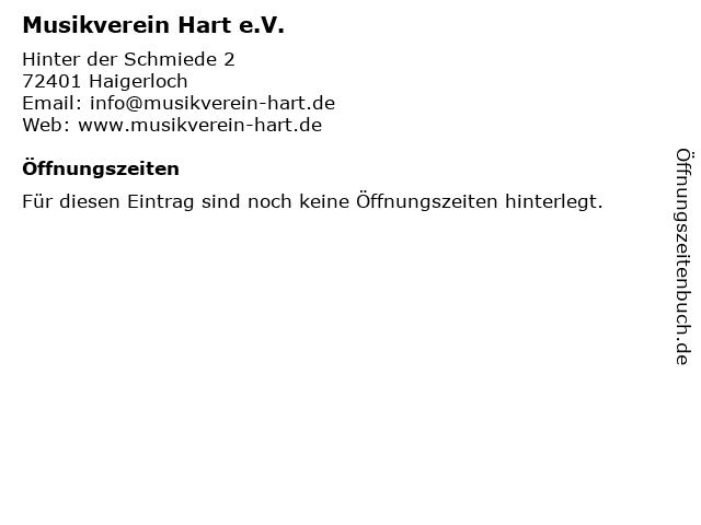 Musikverein Hart e.V. in Haigerloch: Adresse und Öffnungszeiten
