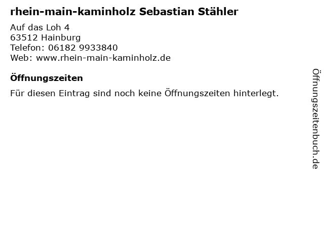 rhein-main-kaminholz Sebastian Stähler in Hainburg: Adresse und Öffnungszeiten