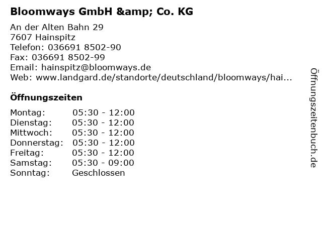 Bloomways GmbH & Co. KG in Hainspitz: Adresse und Öffnungszeiten