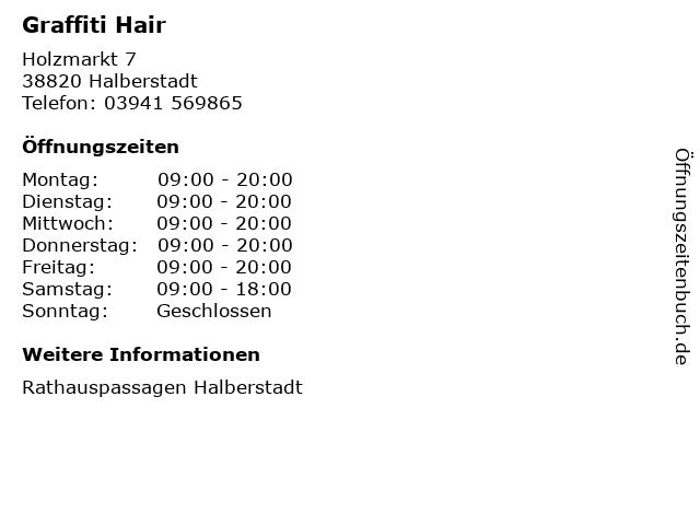 Graffiti Hair in Halberstadt: Adresse und Öffnungszeiten