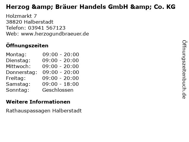 Herzog & Bräuer Handels GmbH & Co. KG in Halberstadt: Adresse und Öffnungszeiten