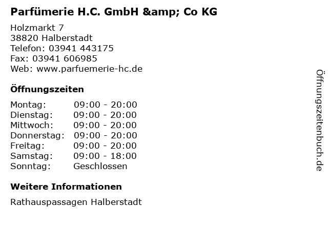 Parfümerie H.C. GmbH & Co KG in Halberstadt: Adresse und Öffnungszeiten
