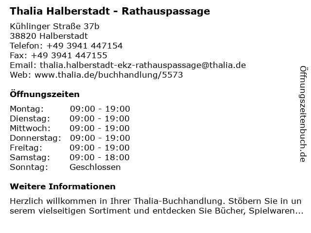 Weltbild in Halberstadt: Adresse und Öffnungszeiten