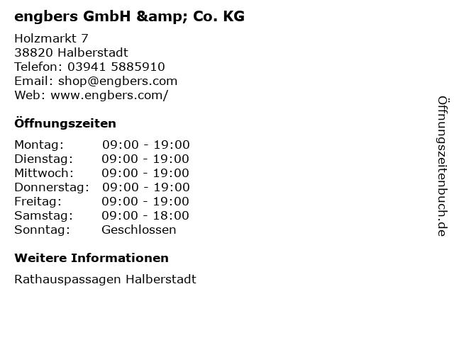 engbers GmbH & Co. KG in Halberstadt: Adresse und Öffnungszeiten