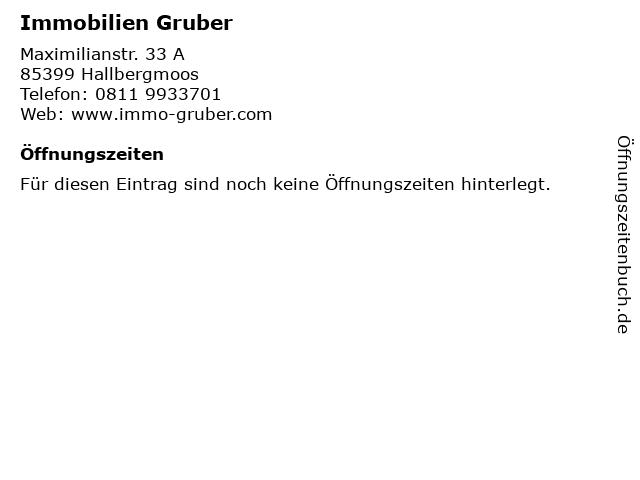 Immobilien Gruber in Hallbergmoos: Adresse und Öffnungszeiten