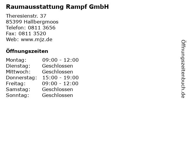 Raumausstattung Rampf GmbH in Hallbergmoos: Adresse und Öffnungszeiten