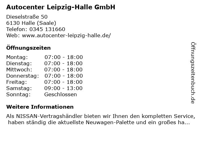 Autocenter Leipzig-Halle GmbH in Halle (Saale): Adresse und Öffnungszeiten