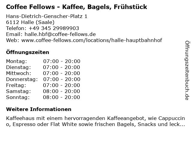 Coffee Fellows GmbH in Halle (Saale): Adresse und Öffnungszeiten