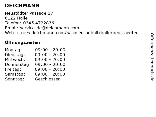 DEICHMANN in Halle (Saale): Adresse und Öffnungszeiten