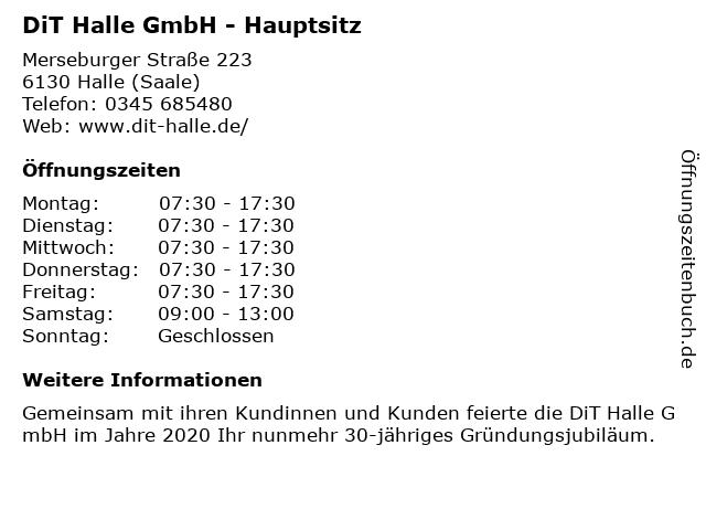 DiT Halle GmbH - Hauptsitz in Halle (Saale): Adresse und Öffnungszeiten