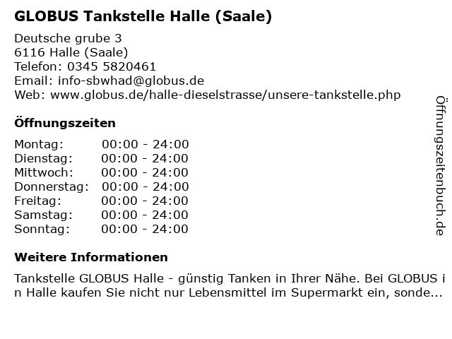 Globus SB-Warenhaus Holding GmbH & Co. KG (Tankstelle) in Halle (Saale): Adresse und Öffnungszeiten