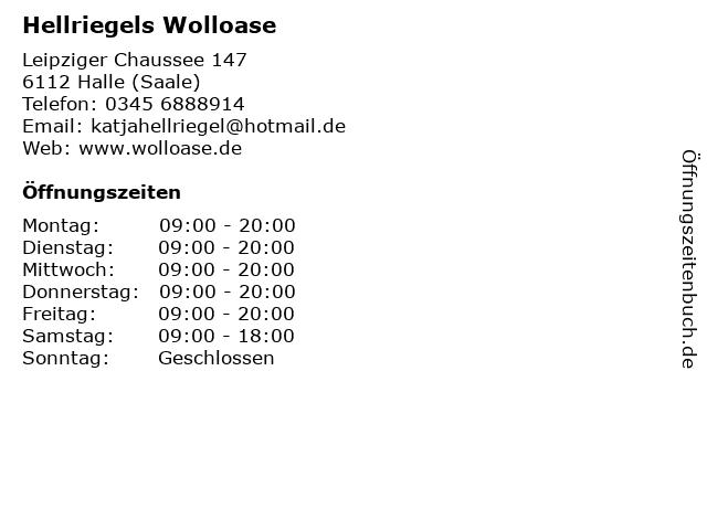 Hellriegels Wolloase in Halle (Saale): Adresse und Öffnungszeiten