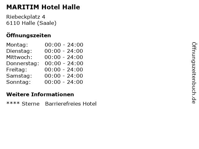 MARITIM Hotel Halle in Halle (Saale): Adresse und Öffnungszeiten