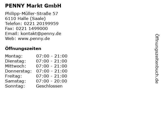PENNY Markt GmbH in Halle (Saale): Adresse und Öffnungszeiten