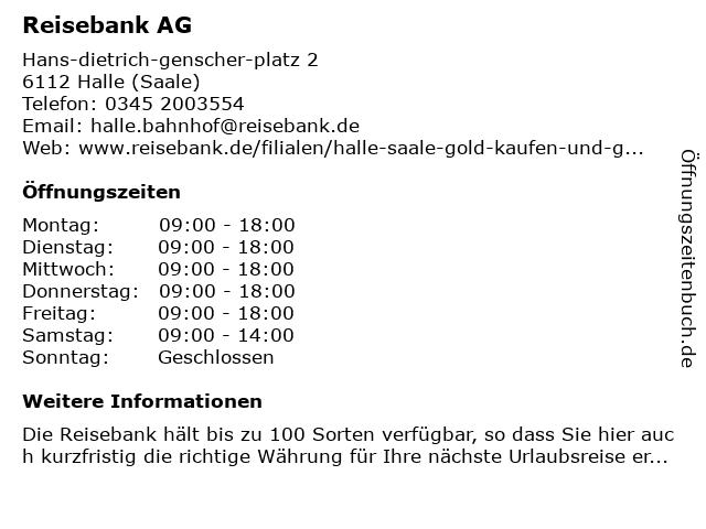 ReiseBank AG in Halle (Saale): Adresse und Öffnungszeiten