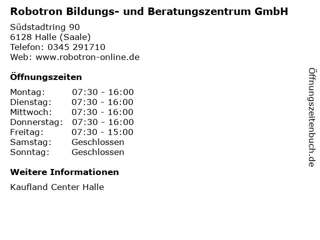 Robotron Bildungs- und Beratungszentrum GmbH in Halle (Saale): Adresse und Öffnungszeiten