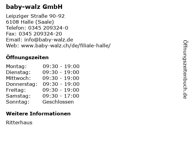 baby-walz GmbH in Halle (Saale): Adresse und Öffnungszeiten