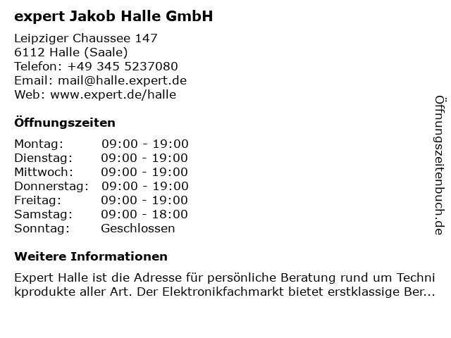 expert Handels GmbH in Halle (Saale): Adresse und Öffnungszeiten