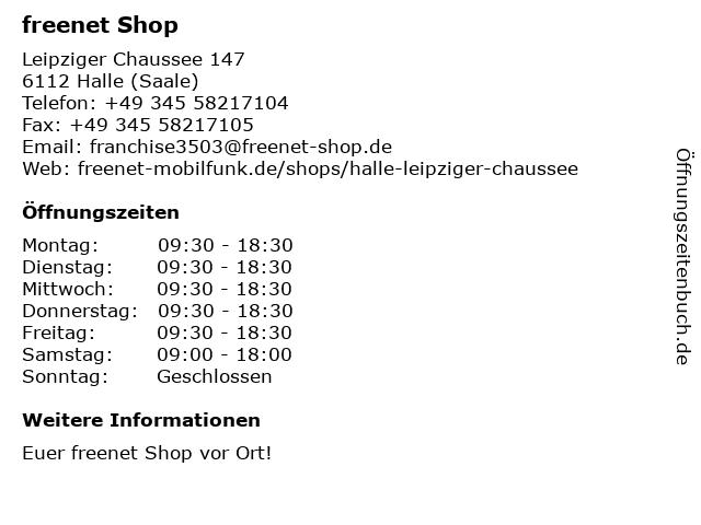 mobilcom-debitel in Halle (Saale): Adresse und Öffnungszeiten