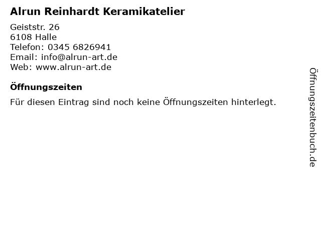 Alrun Reinhardt Keramikatelier in Halle: Adresse und Öffnungszeiten