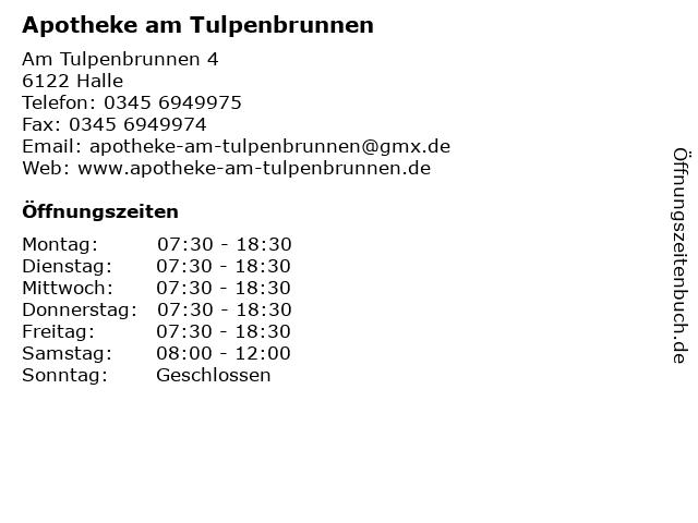 Apotheke am Tulpenbrunnen in Halle: Adresse und Öffnungszeiten