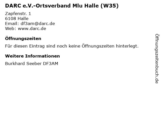 DARC e.V.-Ortsverband Mlu Halle (W35) in Halle: Adresse und Öffnungszeiten