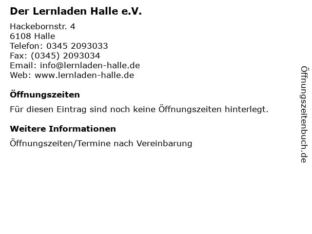 Der Lernladen Halle e.V. in Halle: Adresse und Öffnungszeiten