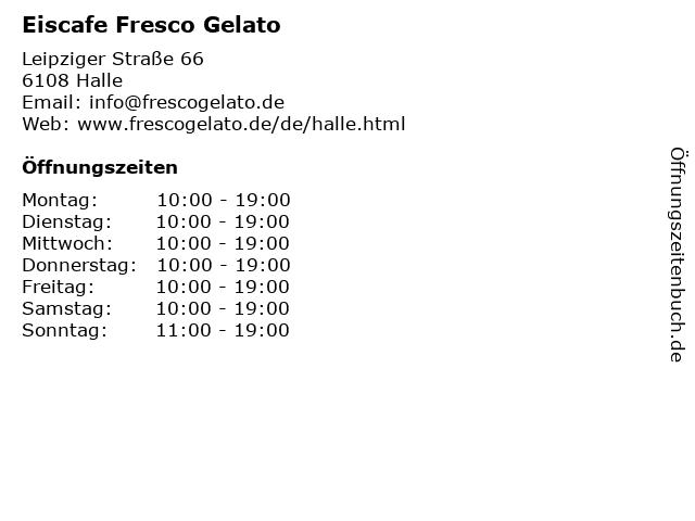 Eiscafe Fresco Gelato in Halle: Adresse und Öffnungszeiten