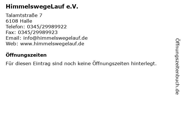 HimmelswegeLauf e.V. in Halle: Adresse und Öffnungszeiten