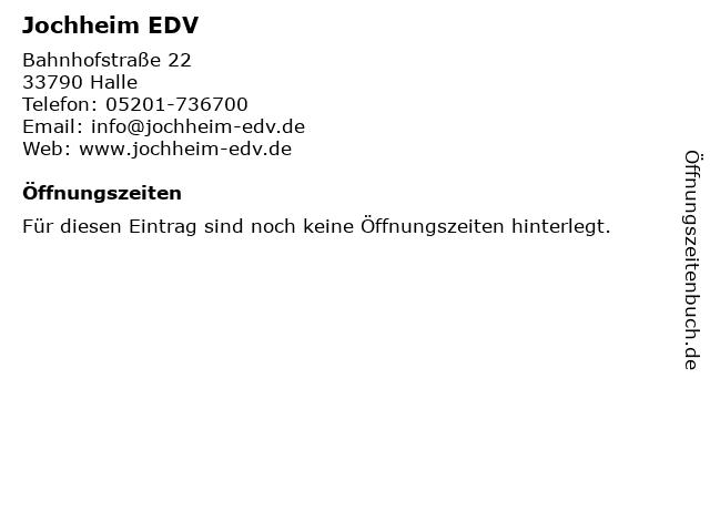 Jochheim EDV in Halle: Adresse und Öffnungszeiten