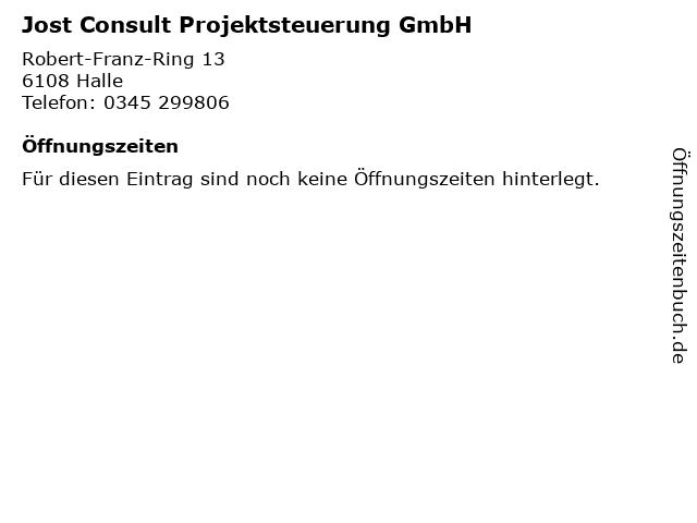 Jost Consult Projektsteuerung GmbH in Halle: Adresse und Öffnungszeiten