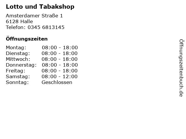 Lotto und Tabakshop in Halle: Adresse und Öffnungszeiten