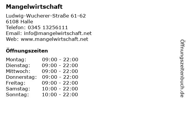 Mangelwirtschaft in Halle: Adresse und Öffnungszeiten