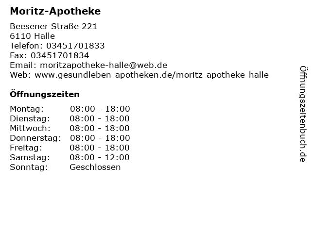 Moritz-Apotheke in Halle: Adresse und Öffnungszeiten