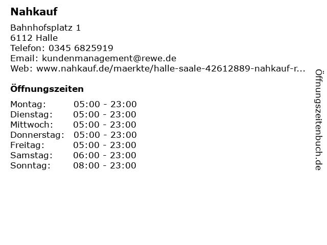 Nahkauf in Halle: Adresse und Öffnungszeiten