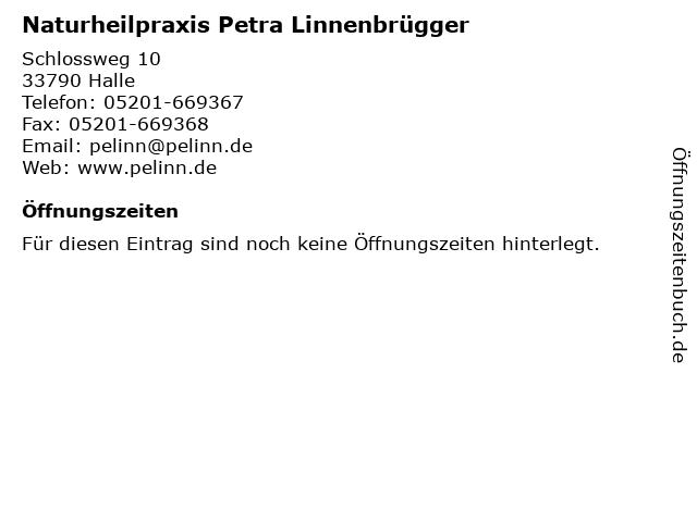 Naturheilpraxis Petra Linnenbrügger in Halle: Adresse und Öffnungszeiten