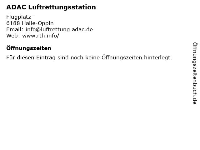 ADAC Luftrettungsstation in Halle-Oppin: Adresse und Öffnungszeiten
