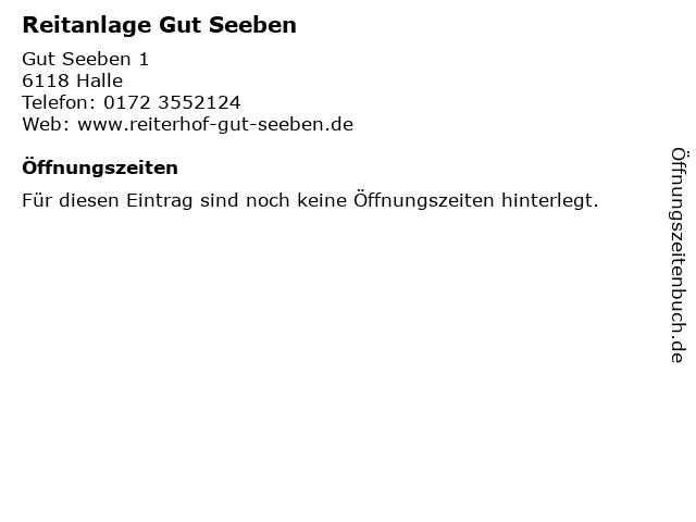 Reitanlage Gut Seeben in Halle: Adresse und Öffnungszeiten