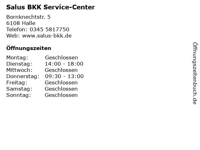 Salus BKK Service-Center in Halle: Adresse und Öffnungszeiten