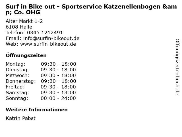 Surf in Bike out - Sportservice Katzenellenbogen & Co. OHG in Halle: Adresse und Öffnungszeiten