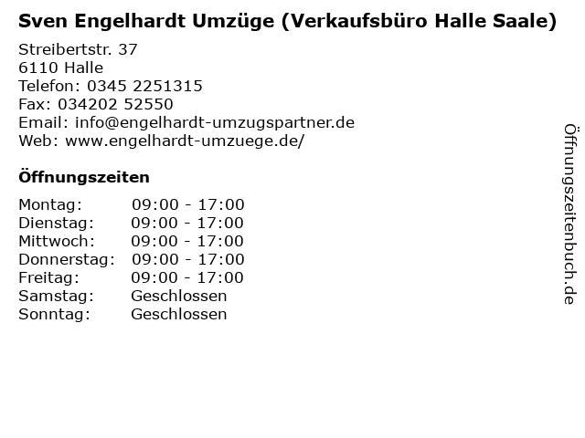Sven Engelhardt Umzüge (Verkaufsbüro Halle Saale) in Halle: Adresse und Öffnungszeiten