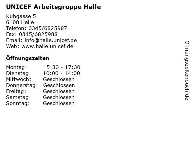 UNICEF Arbeitsgruppe Halle in Halle: Adresse und Öffnungszeiten
