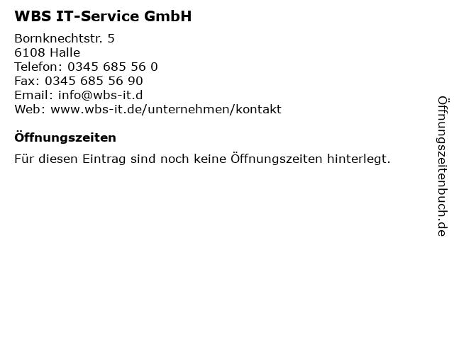 WBS IT-Service GmbH in Halle: Adresse und Öffnungszeiten