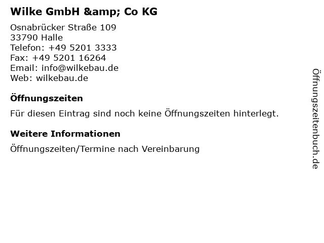 Wilke GmbH & Co KG in Halle: Adresse und Öffnungszeiten