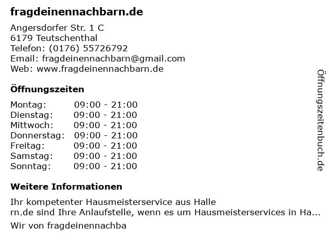 fragdeinennachbarn.de in Halle, Saale: Adresse und Öffnungszeiten