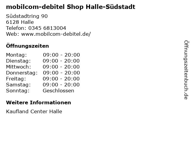 mobilcom-debitel Shop Halle-Südstadt in Halle: Adresse und Öffnungszeiten
